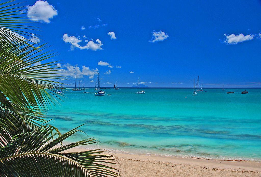 Самый экстремальный пляж Сен-Мартен