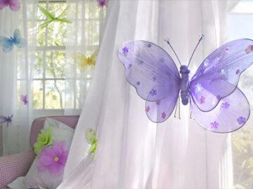 Бабочки в интерьере квартиры