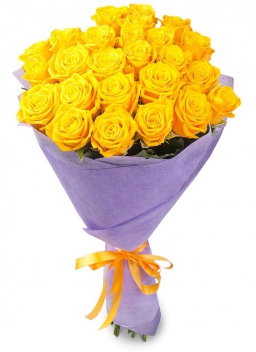 Красивый букет из желтых роз
