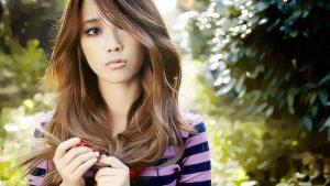 Красивая девушка из Кореи