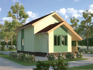 Дом с крышей из сэндвич-панелей
