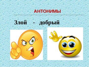 слова - антонимы