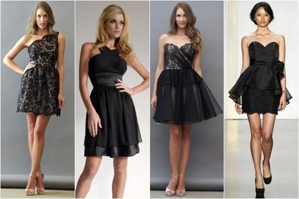 Черные коктейльные платья