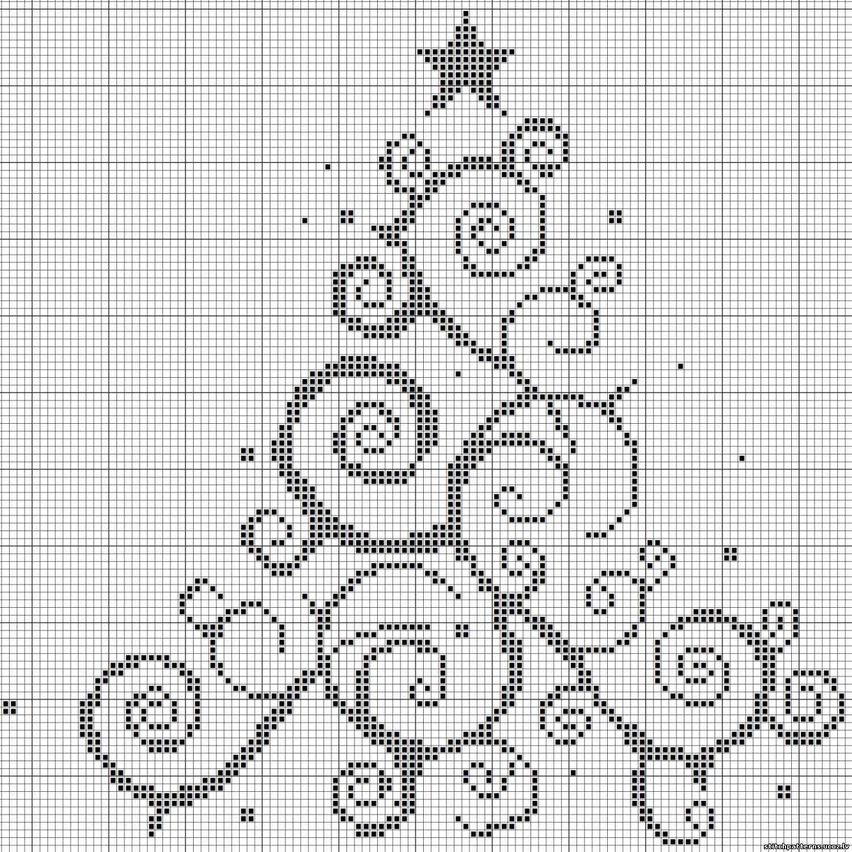 Схемы вышивок крестом елочек