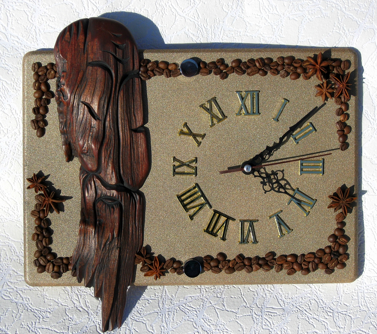 Часы в кофейном стиле своими руками 90