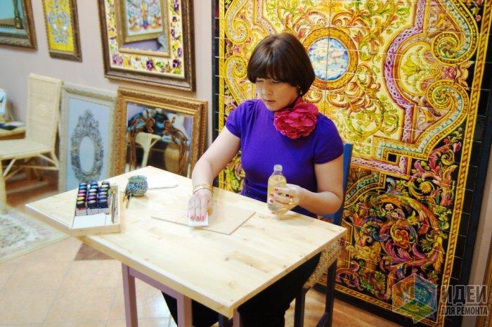 Роспись по керамической плитке своими руками мастер класс 28