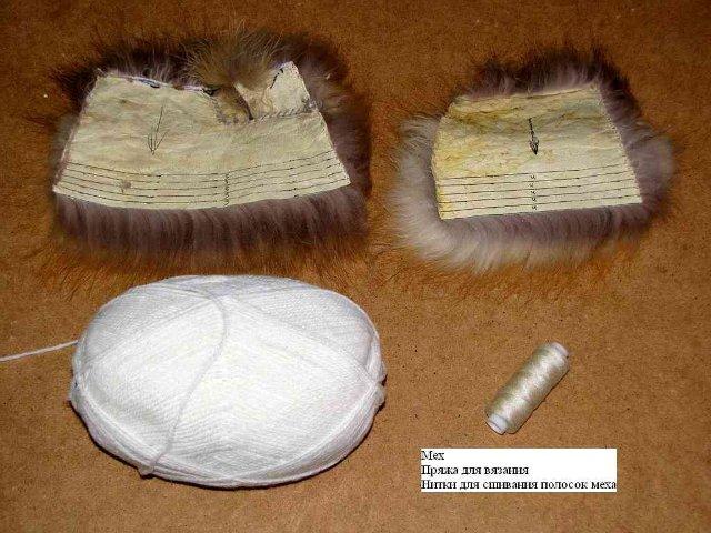 Крючком шапки из меха мастер класс