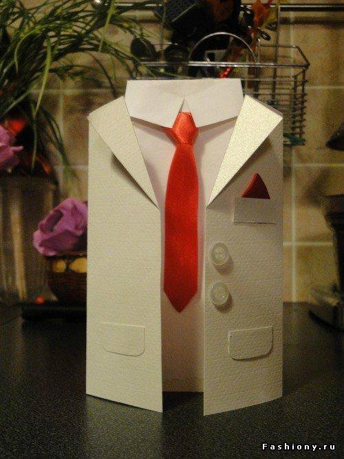Открытка для мужчин галстук 778