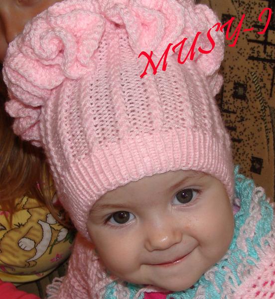 Вязание на спицах для детей шапок с