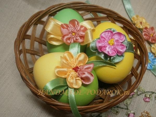 Своими руками украшение пасхальных яиц