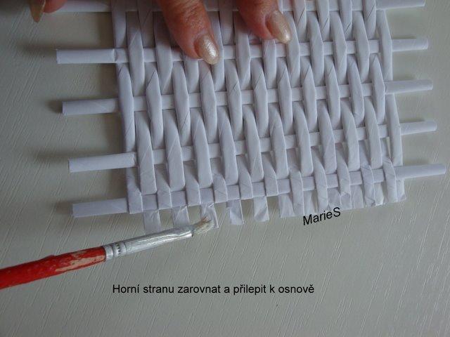 Плетение коробки газетные трубочки