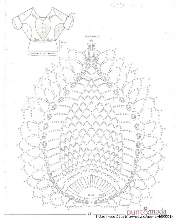Крючок схема прихватки ананас