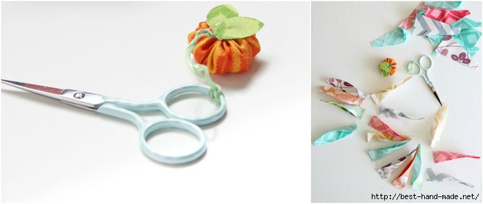 how to make a mini fabric pumpkin v and co (700x295, 76Kb)