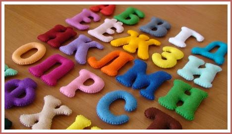 Как сделать буквы подушки из фетра