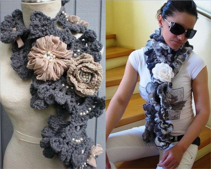 Красивый вязаный шарф своими руками - VE-graphics.ru