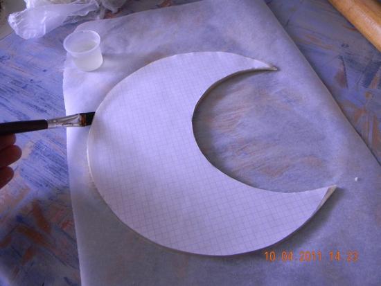 Как сделать объемную луну из бумаги