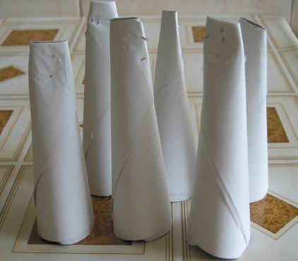 Конусы для трубочек своими руками