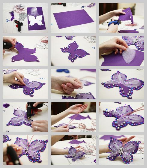 Бабочки для одежды своими руками