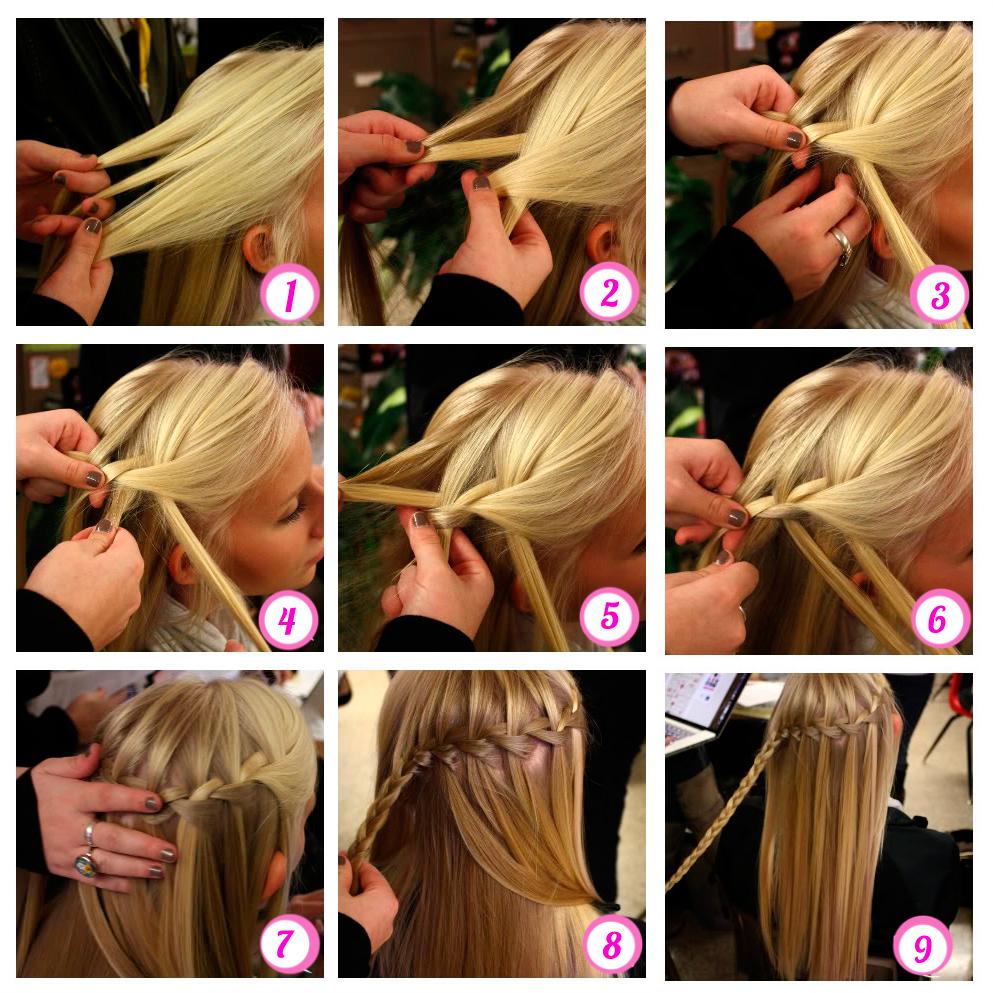 Плетение кос на средние волосы себе пошаговое