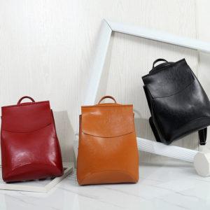 Кожаная женская сумка-рюкзак