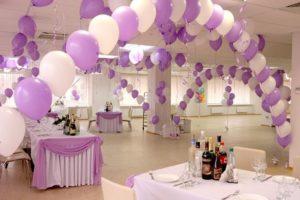 Как украсить свадьбу шарами