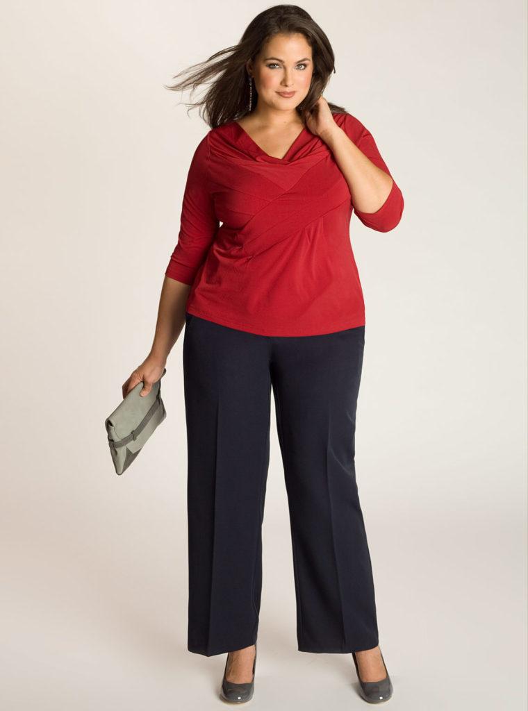 Как выбрать брюки для полных женщин