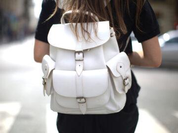 Стильный рюкзак за спиной
