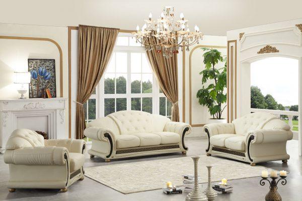 Мрамор в сочетании с комплектом мягкой мебели «Ассоль»