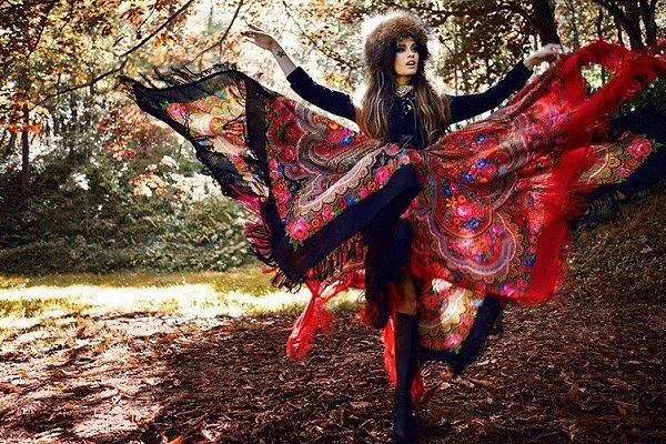 Платья из платков
