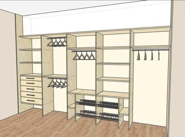 Проект шкафа-купе: как спроектировать встроенную модель и какие программы  для проектирования подходят - zwsoft.ru
