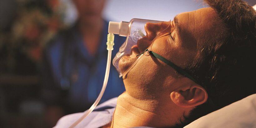 Пациент с кислородным конденсатором