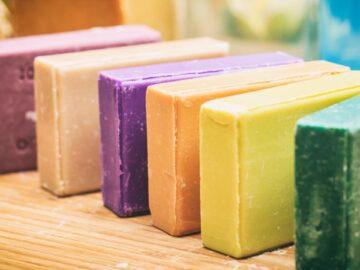 разноцветное мыло