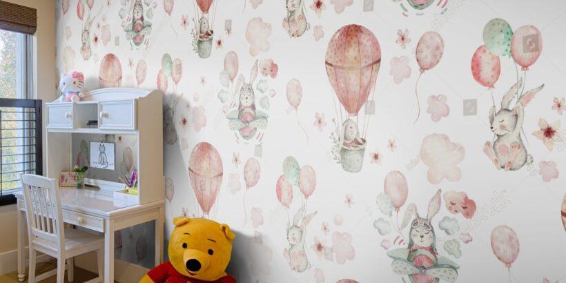 обои с рисунком для детской комнаты