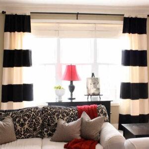 Эффектные черно-белые шторы